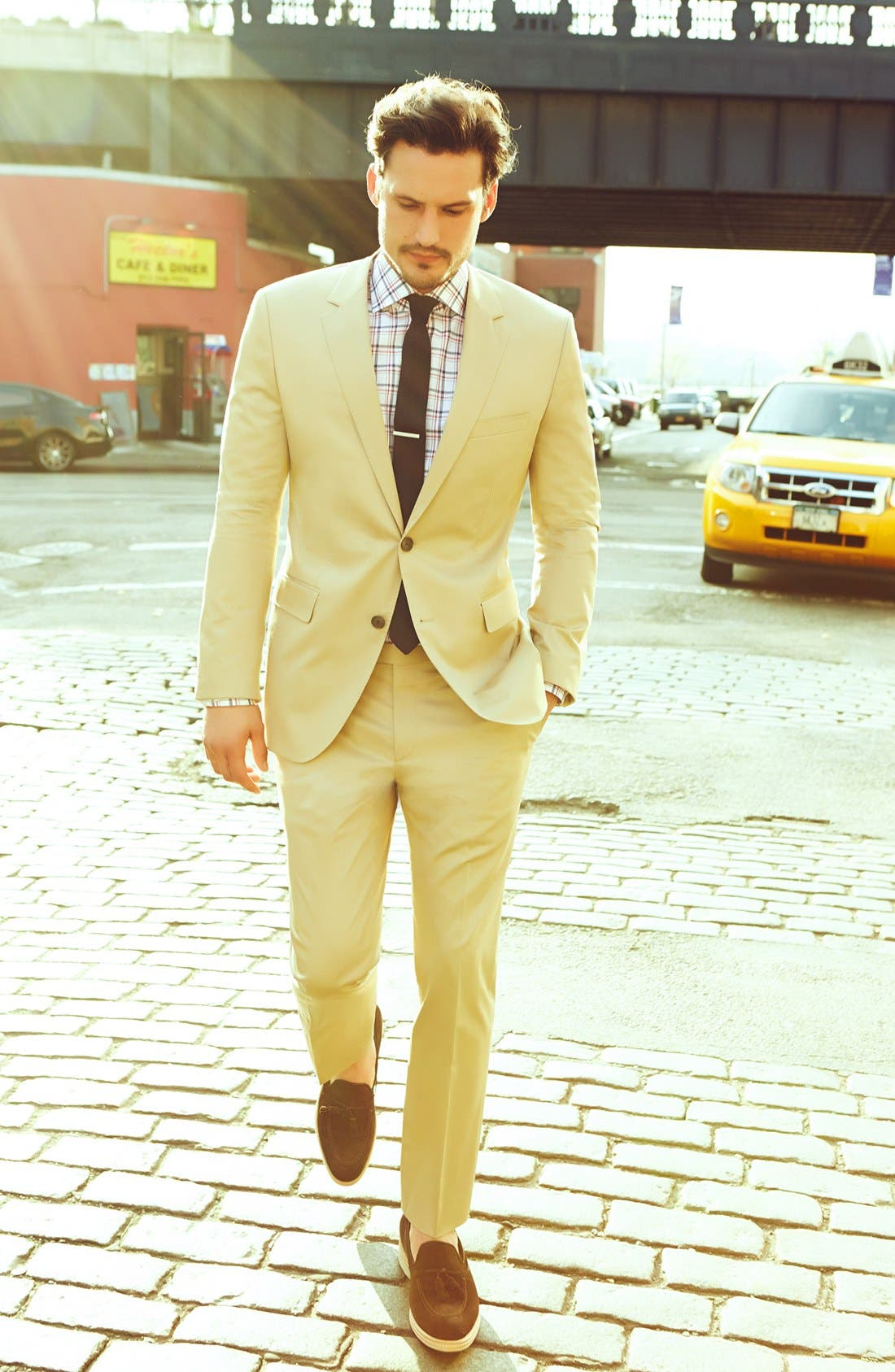 Alternate Image 6  - BOSS Black 'James/Sharp' Cotton Suit