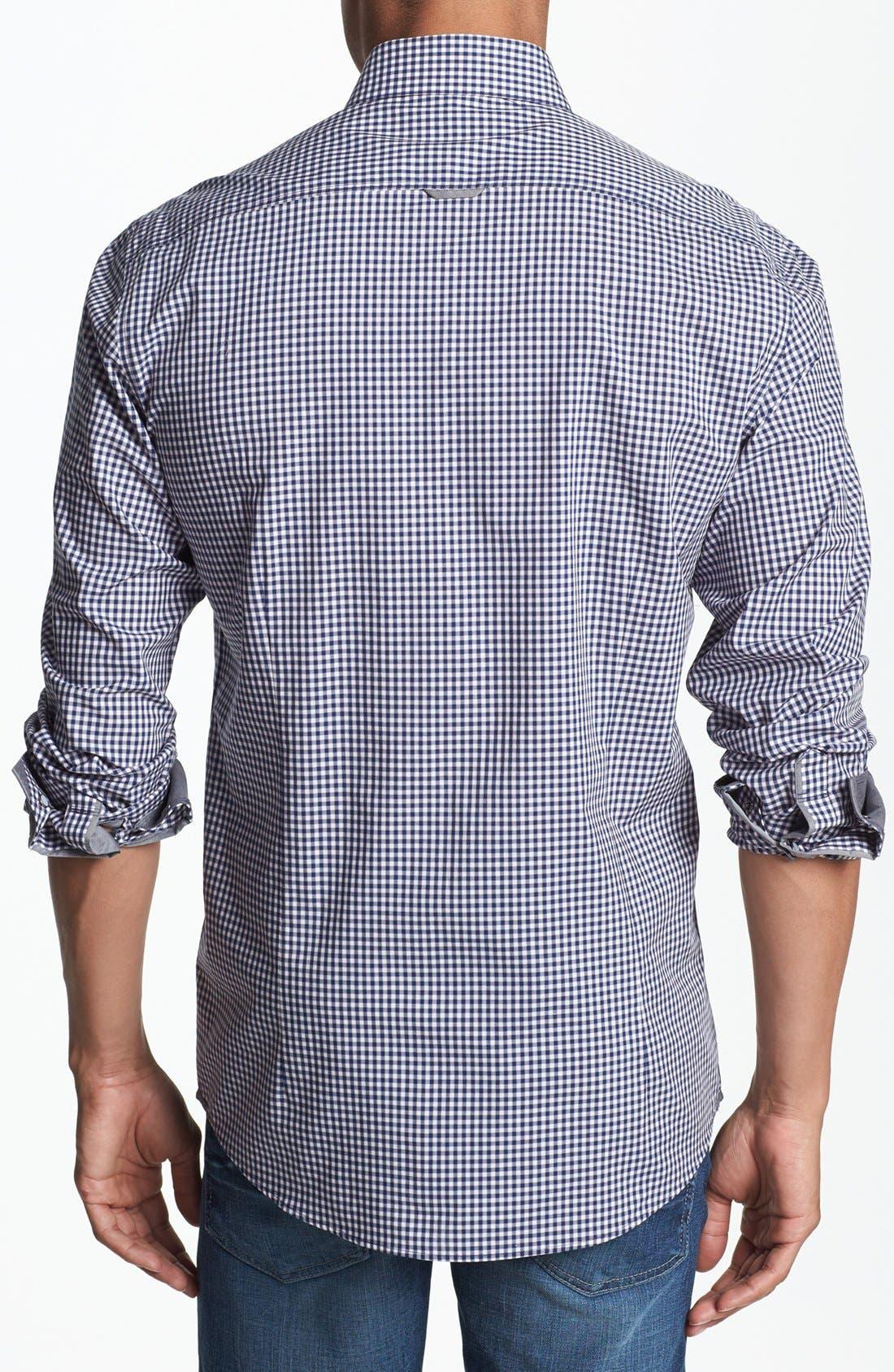 Alternate Image 3  - 7 Diamonds 'Good Time' Gingham Trim Fit Cotton Sport Shirt