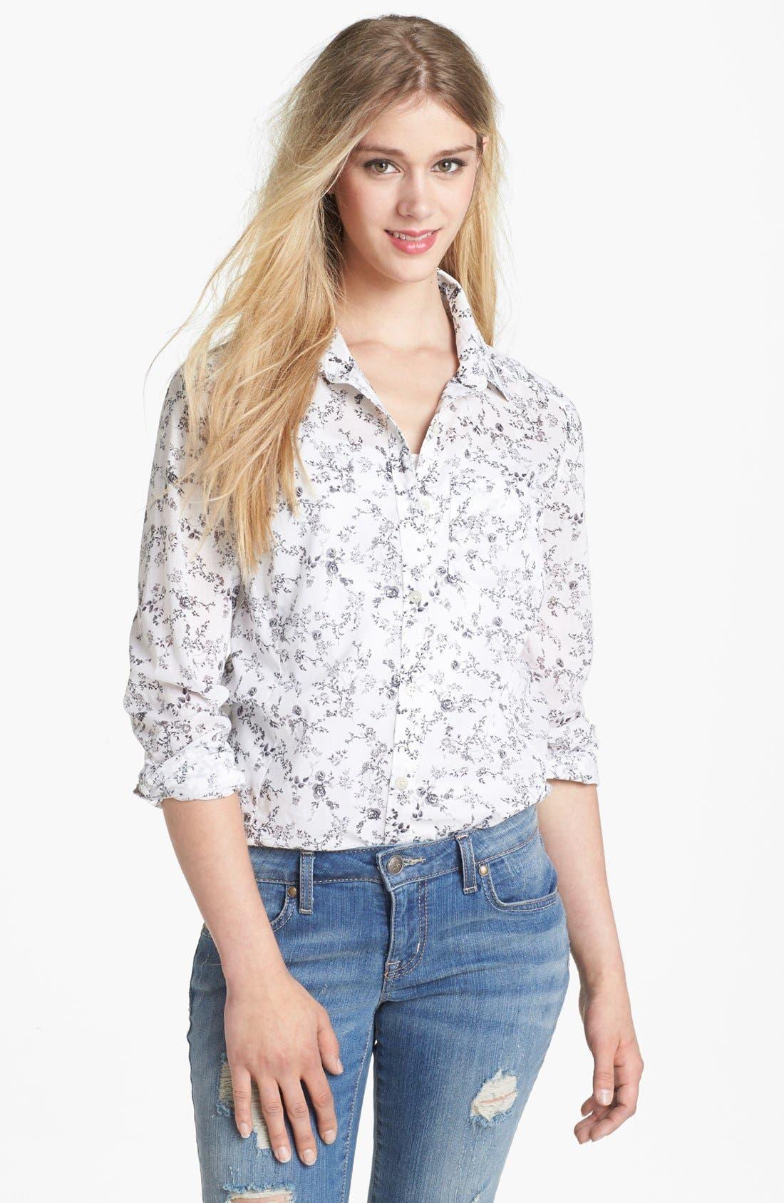 Alternate Image 1 Selected - Caslon® Long Sleeve Shirt (Regular & Petite)