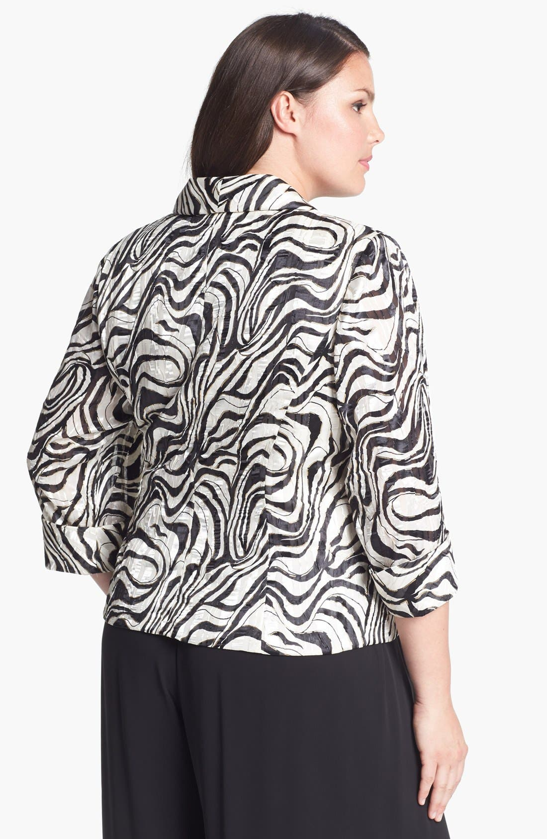Alternate Image 2  - Alex Evenings Print Wrap Blouse (Plus Size)