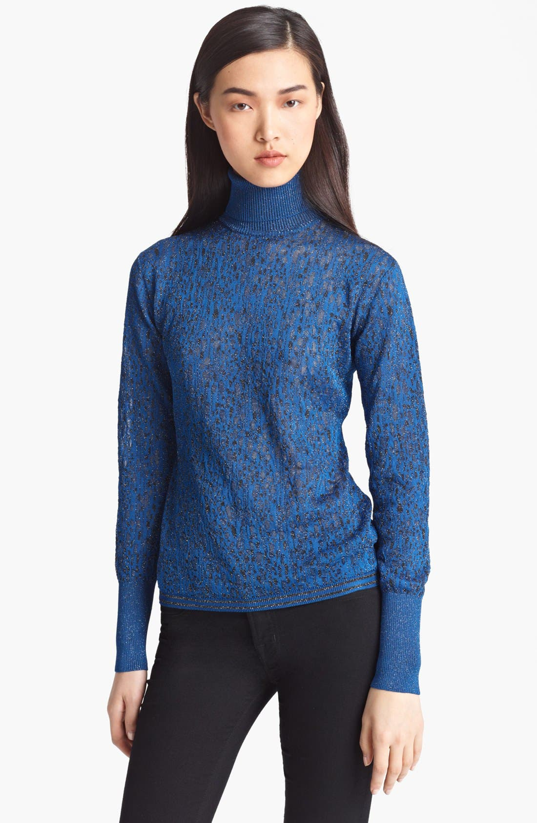 Main Image - Missoni Jacquard Lamé Turtleneck