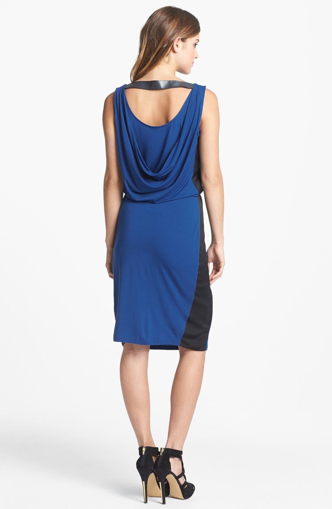 Alternate Image 2  - DKNYC Drape Back Mixed Media Dress