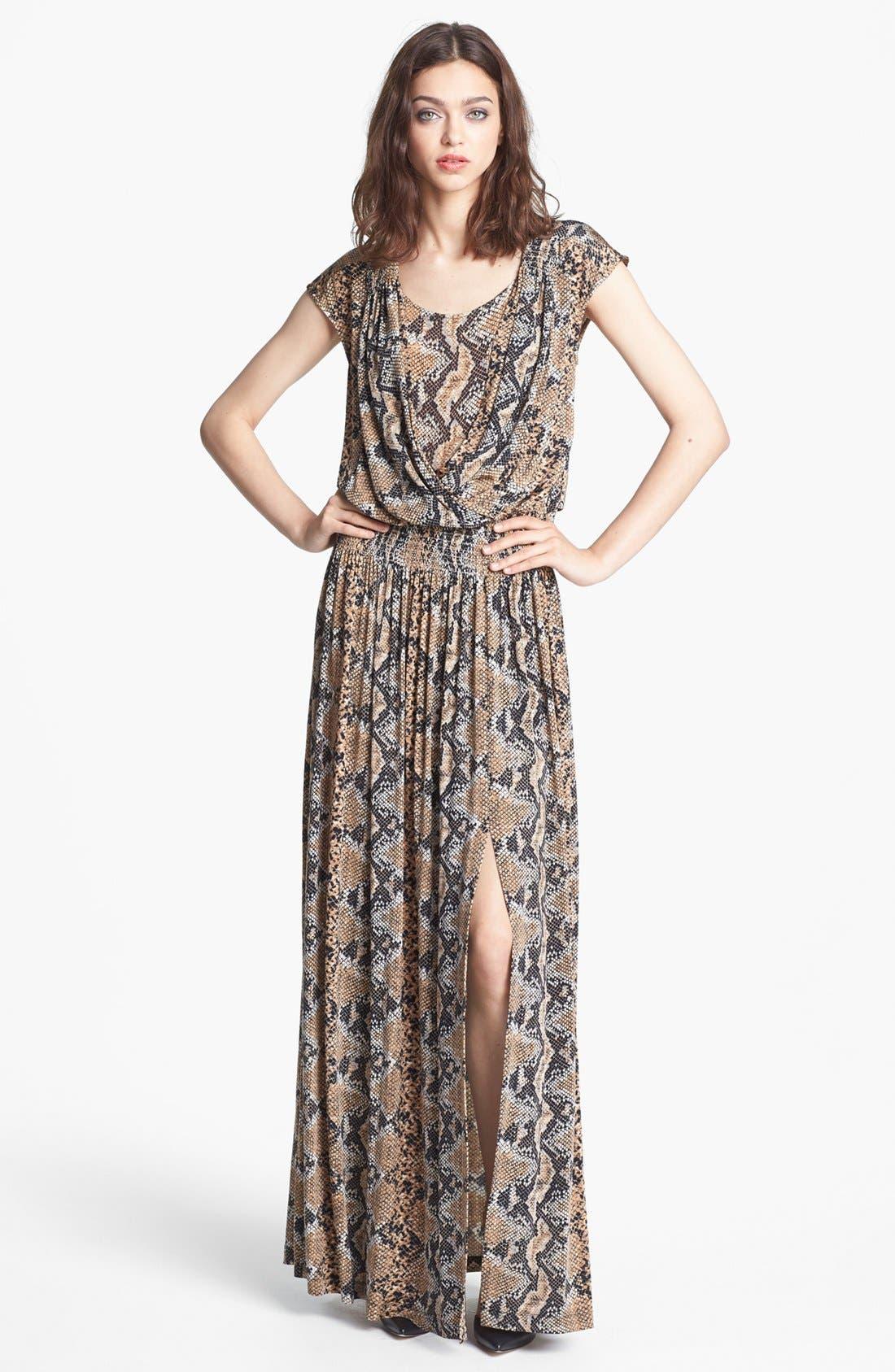 Main Image - Tracy Reese Python Print Jersey Maxi Dress