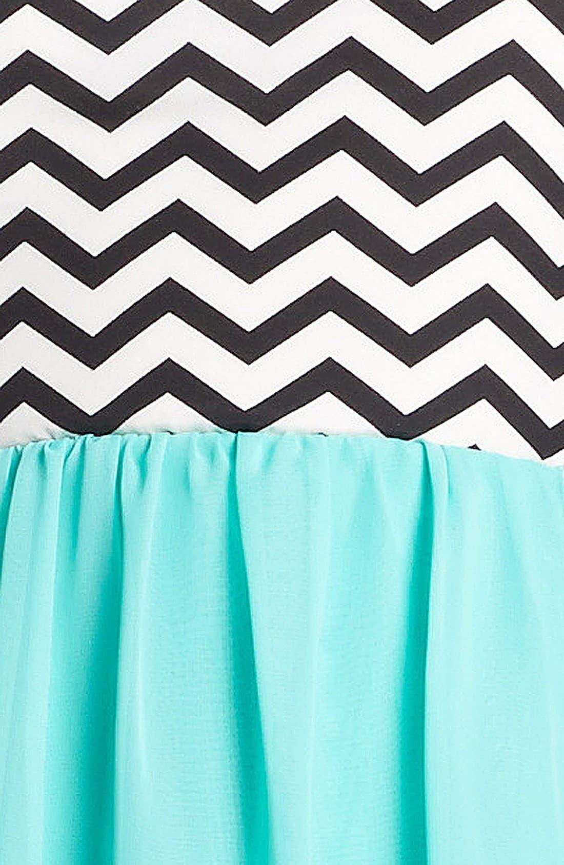Alternate Image 3  - Trixxi Zigzag Print High/Low Dress (Juniors)
