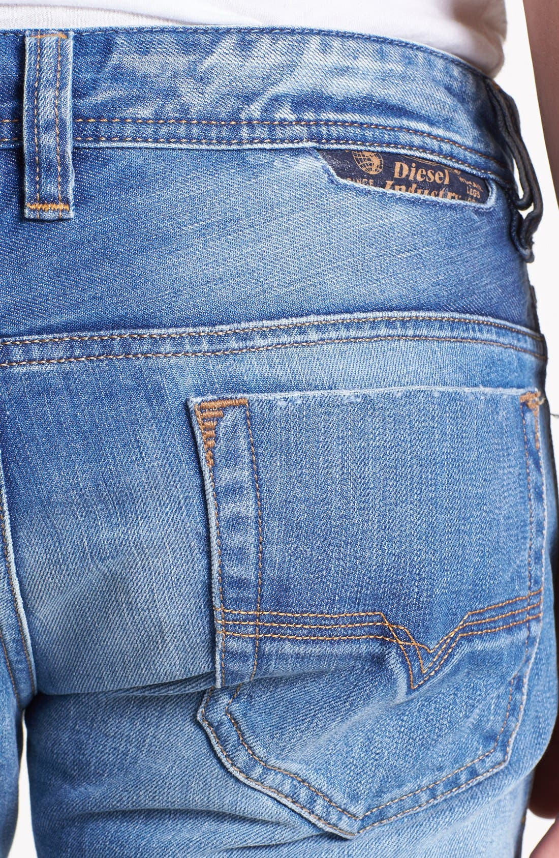 Alternate Image 4  - DIESEL® 'Safado' Slim Fit Jeans (0816P)