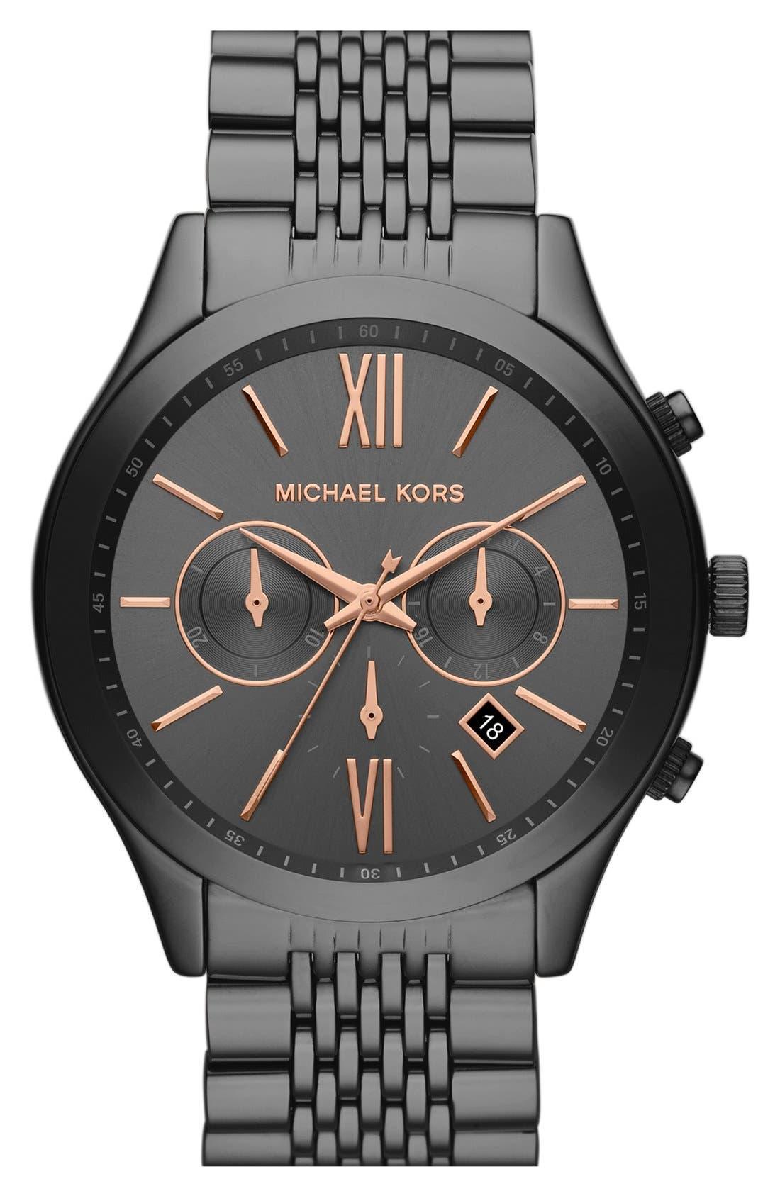 Main Image - Michael Kors 'Brookton' Chronograph Bracelet Watch, 45mm