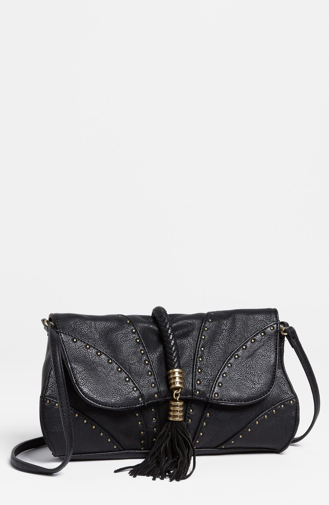 Main Image - Jessica Simpson 'Kenya' Faux Leather Clutch
