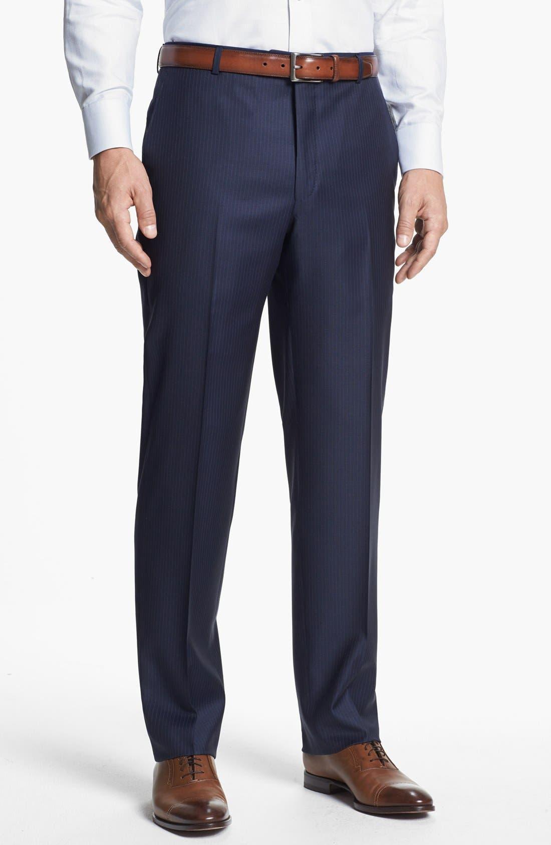 Alternate Image 5  - Hickey Freeman 'Beacon' Classic Fit Stripe Suit