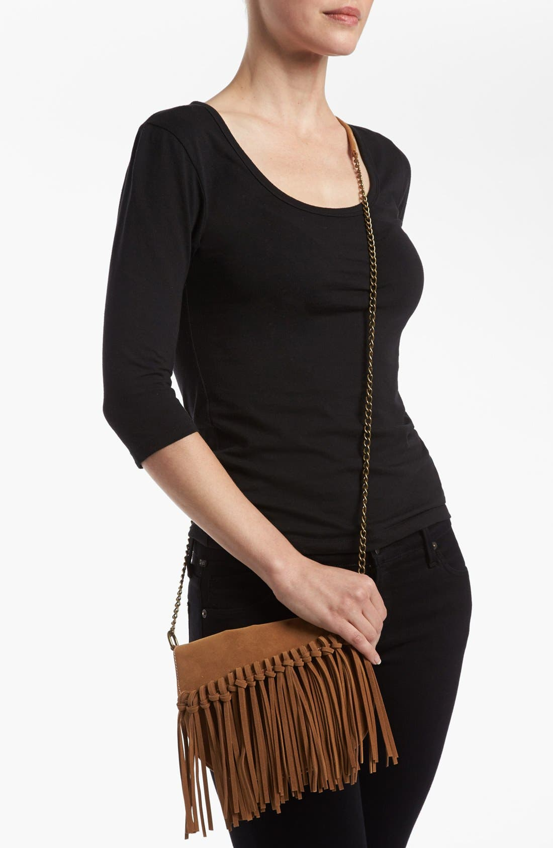 Alternate Image 2  - BP. Fringe Knot Crossbody Bag (Juniors)