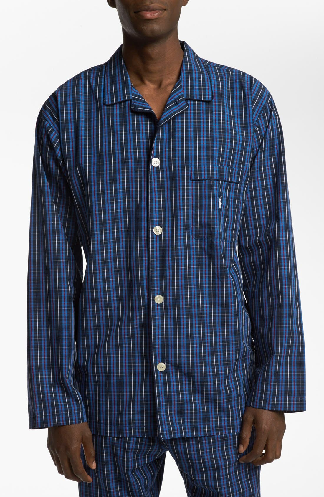 Alternate Image 1 Selected - Polo Ralph Lauren Woven Pajama Top