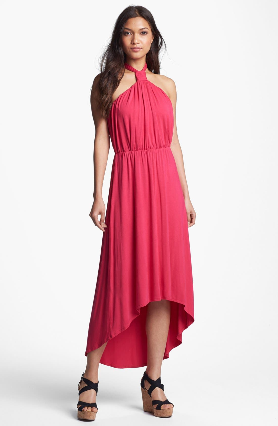 Main Image - Felicity & Coco Halter High/Low Maxi Dress (Regular & Petite) (Nordstrom Exclusive)