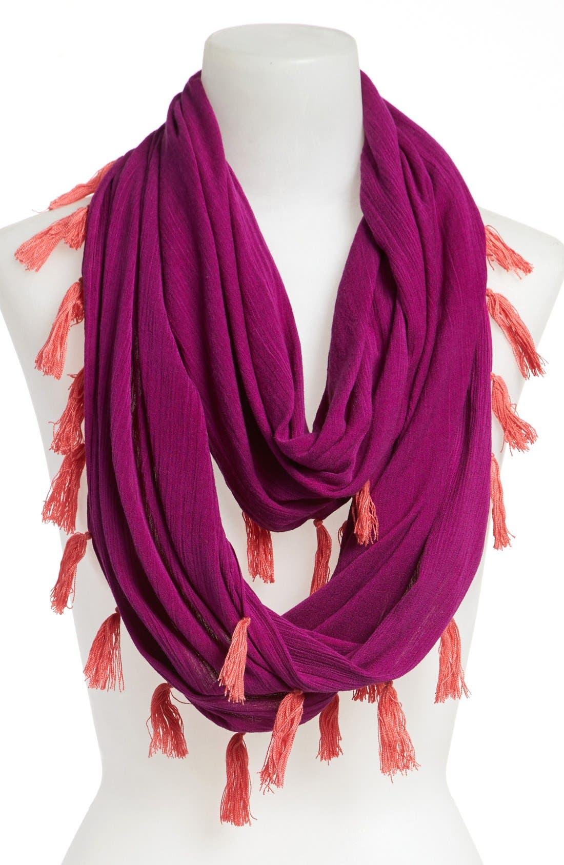 Main Image - Collection XIIX Tasseled Infinity Scarf