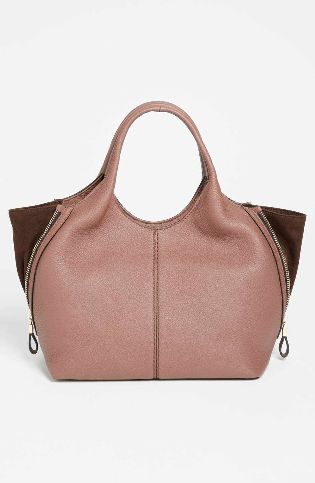 Alternate Image 4  - Tod's 'ALH Side Zip - Small' Leather Shopper