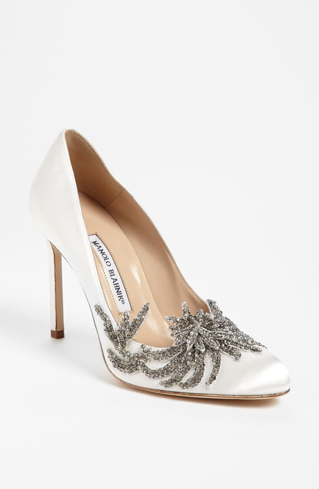 Alternate Image 1 Selected - Manolo Blahnik 'Swan' Pump (Women)