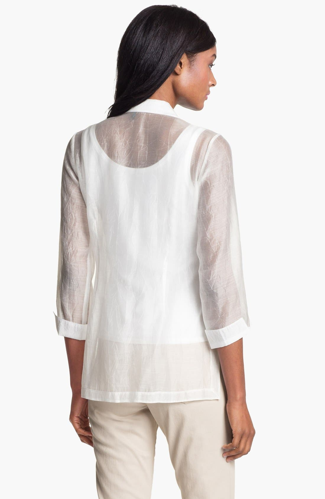 Alternate Image 2  - Nic + Zoe 'Embroidered Shores' Shirt (Petite)