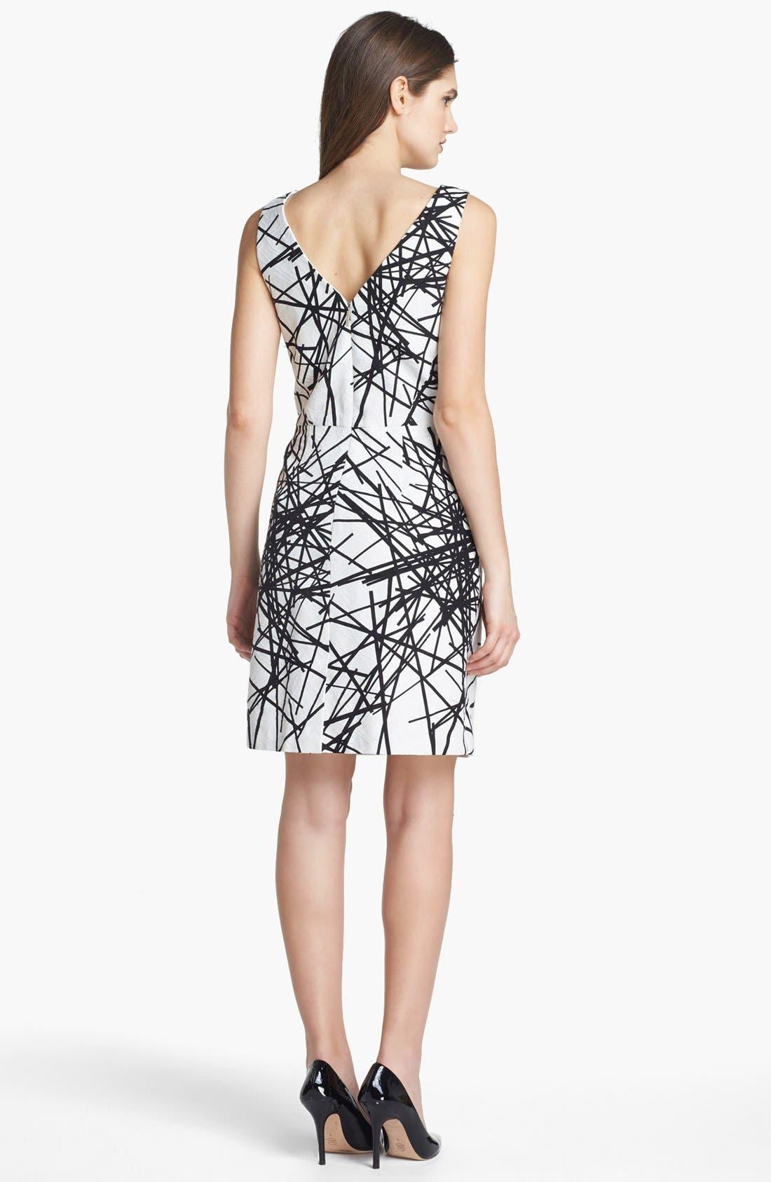 Alternate Image 2  - Donna Ricco Print Jacquard Sheath Dress