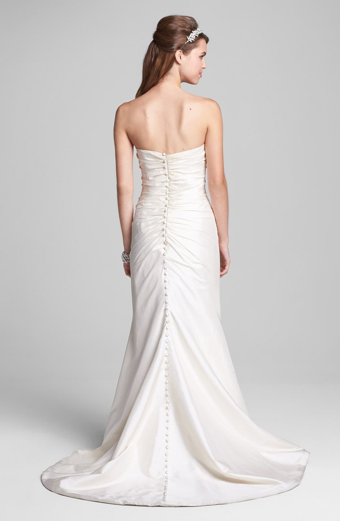 Alternate Image 2  - Caroline DeVillo 'Abigail' Silk Shantung Mermaid Gown (In Stores Only)