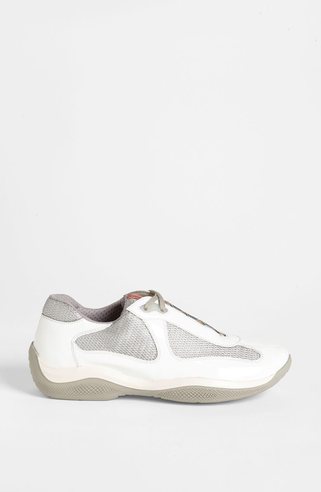 Alternate Image 4  - Prada Patent Leather & Mesh Sneaker