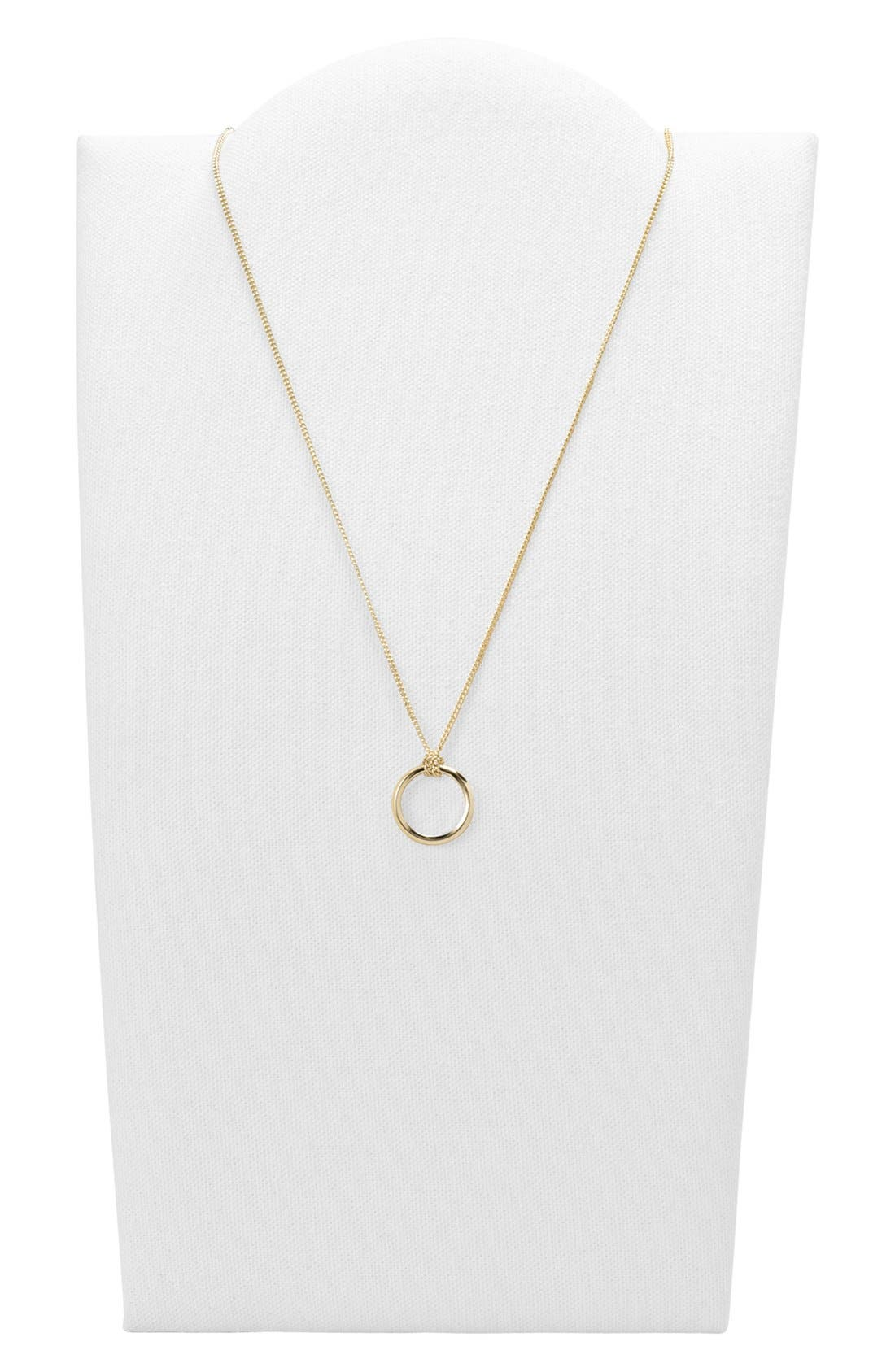 Alternate Image 2  - Fossil Circle Pendant Necklace