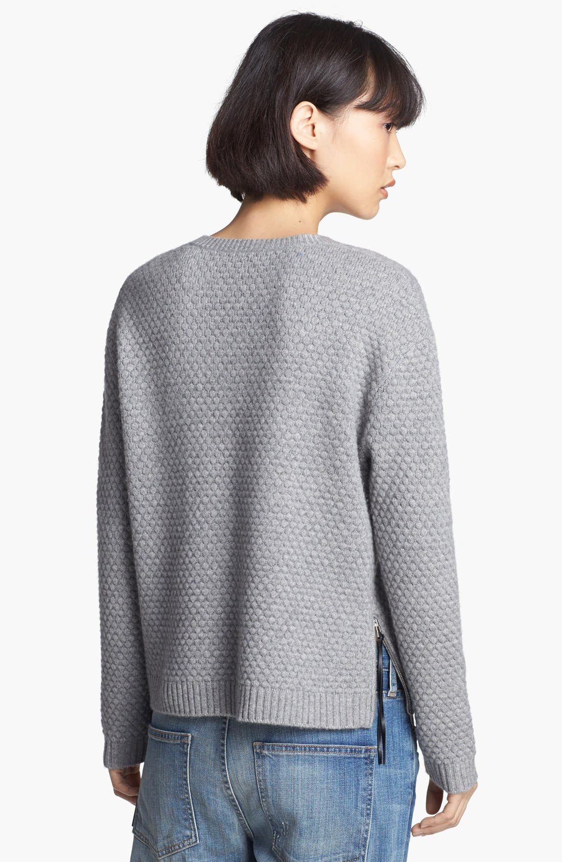 Alternate Image 2  - Loma 'Joe' Popcorn Stitch Sweater
