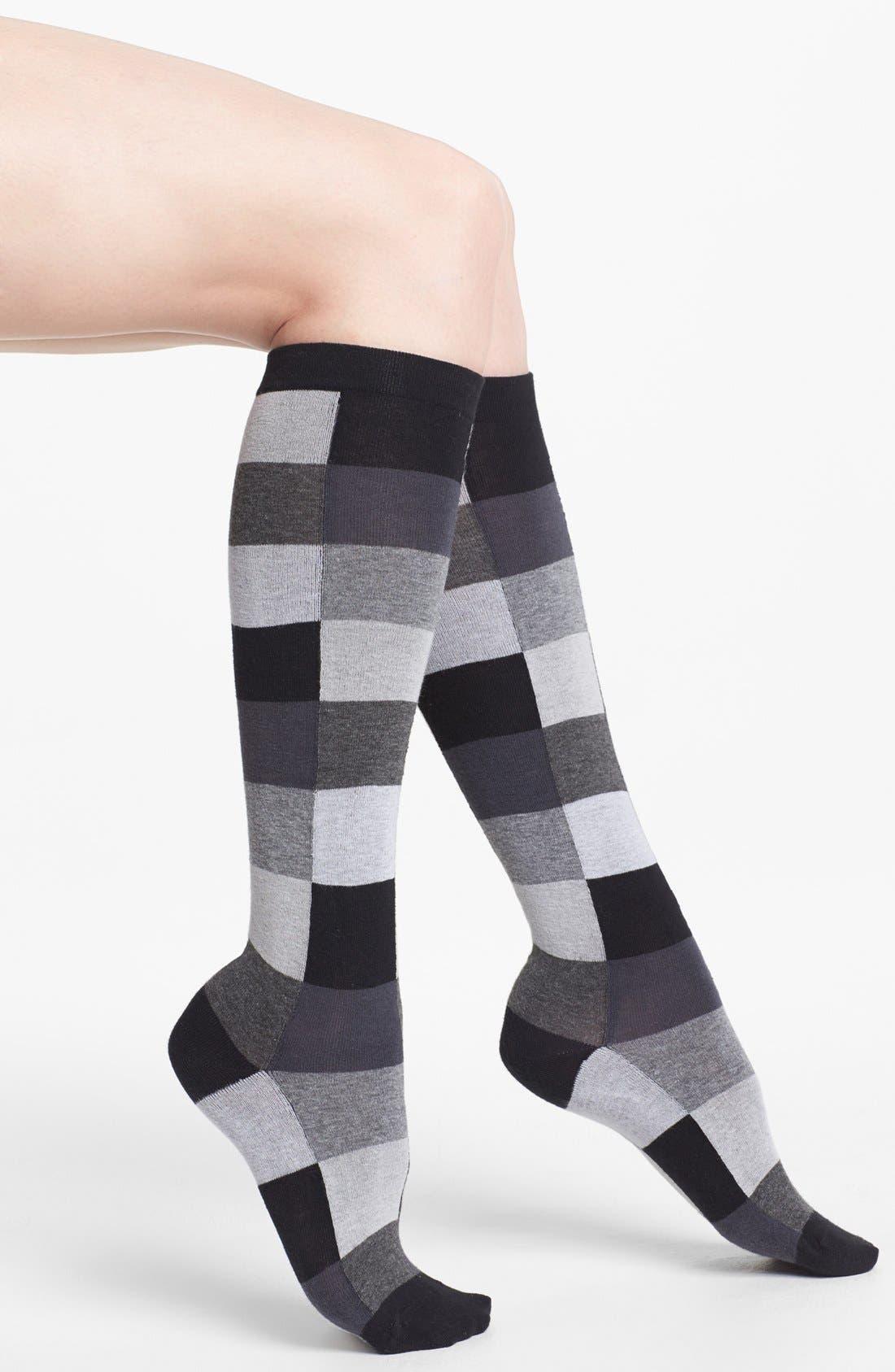 Main Image - Hue Colorblock Knee High Socks