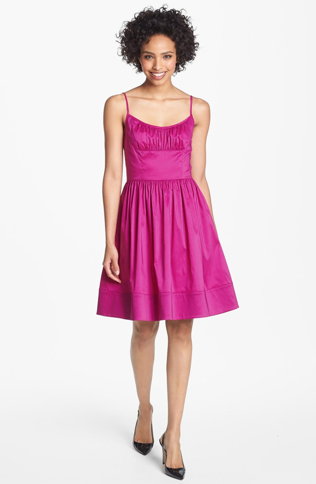 Alternate Image 1 Selected - Maggy London Taffeta Fit & Flare Dress