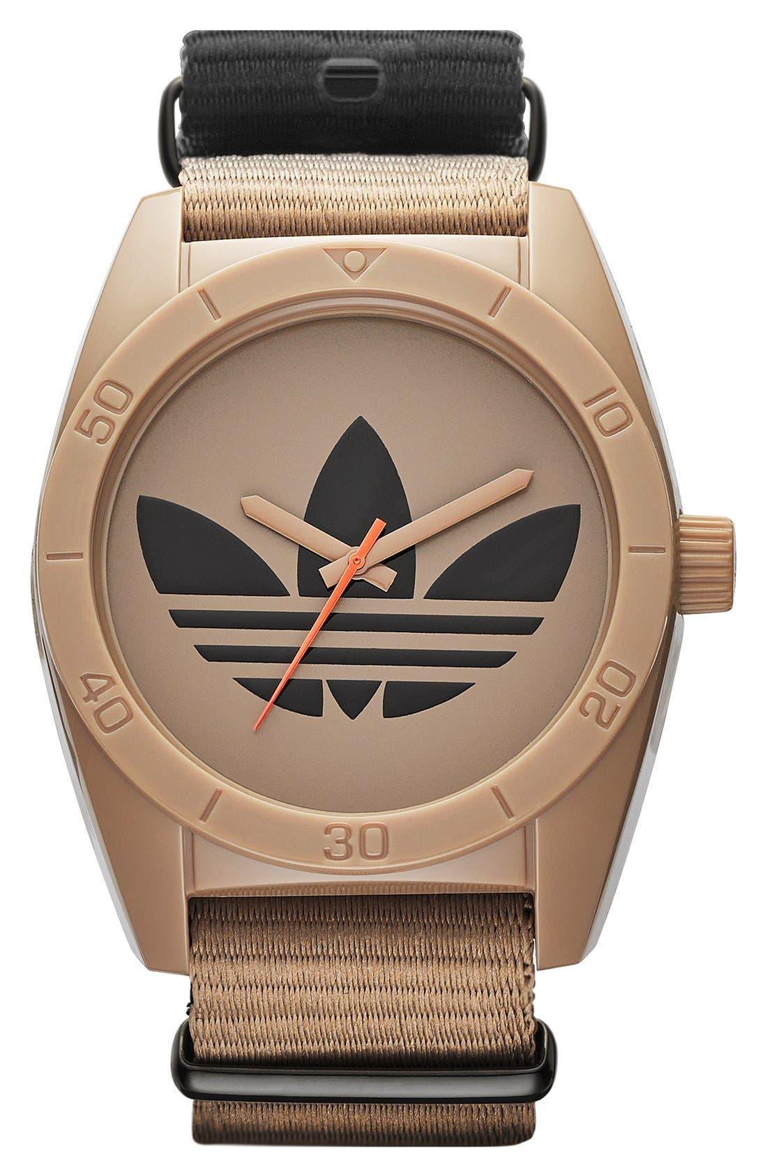 Alternate Image 1 Selected - adidas Originals 'Santiago - Special Edition' Fabric Strap Watch, 42mm