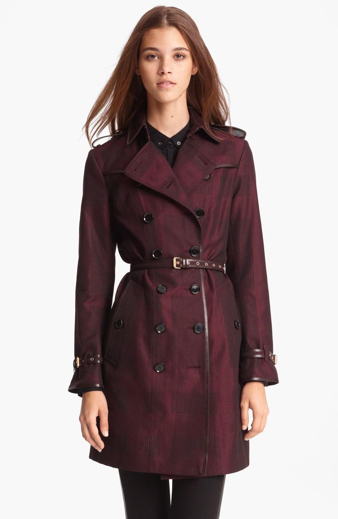 Alternate Image 1 Selected - Burberry London Double Breasted Trench Coat