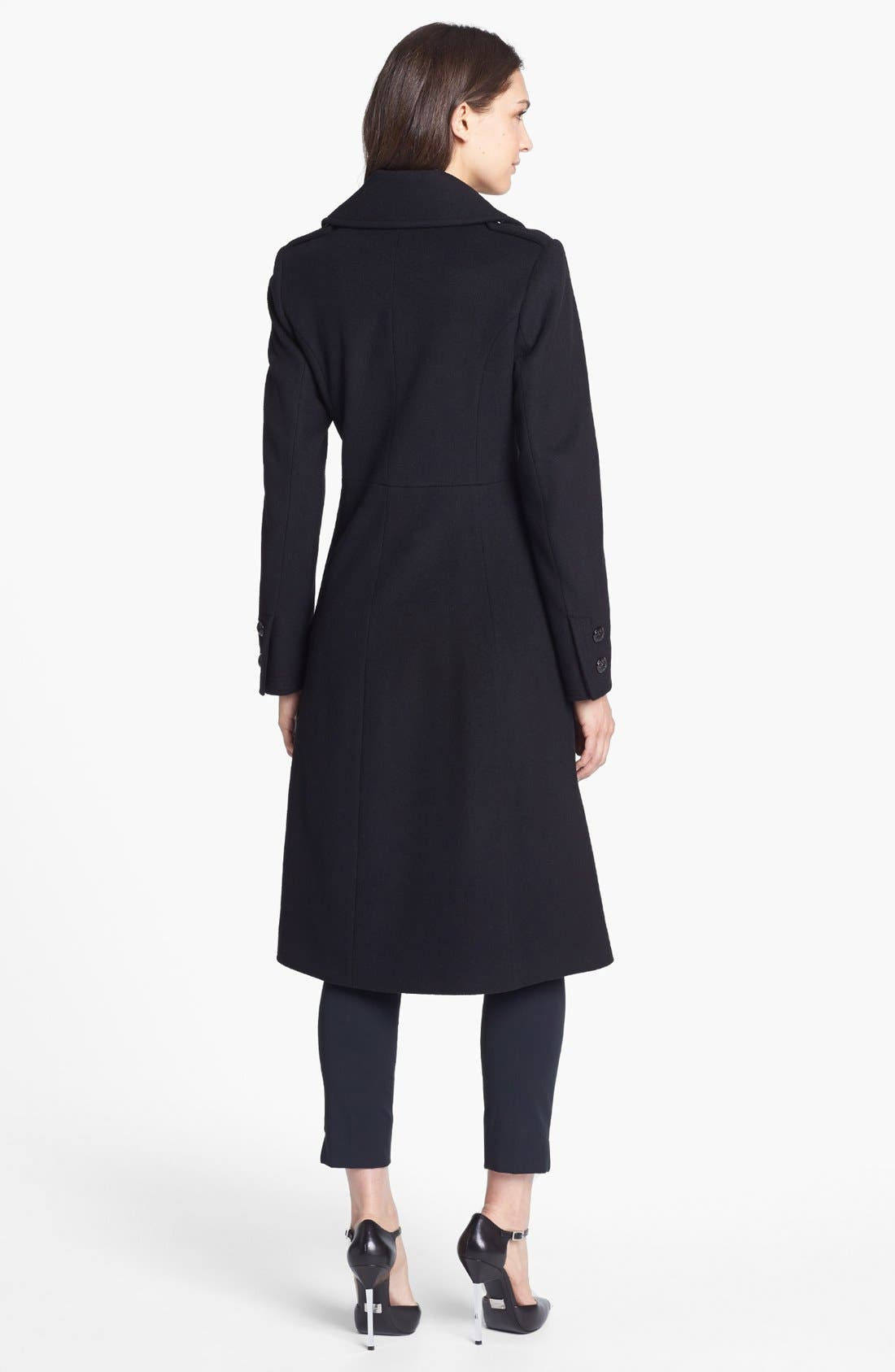 Alternate Image 2  - French Connection Fit & Flare Wool Blend Coat