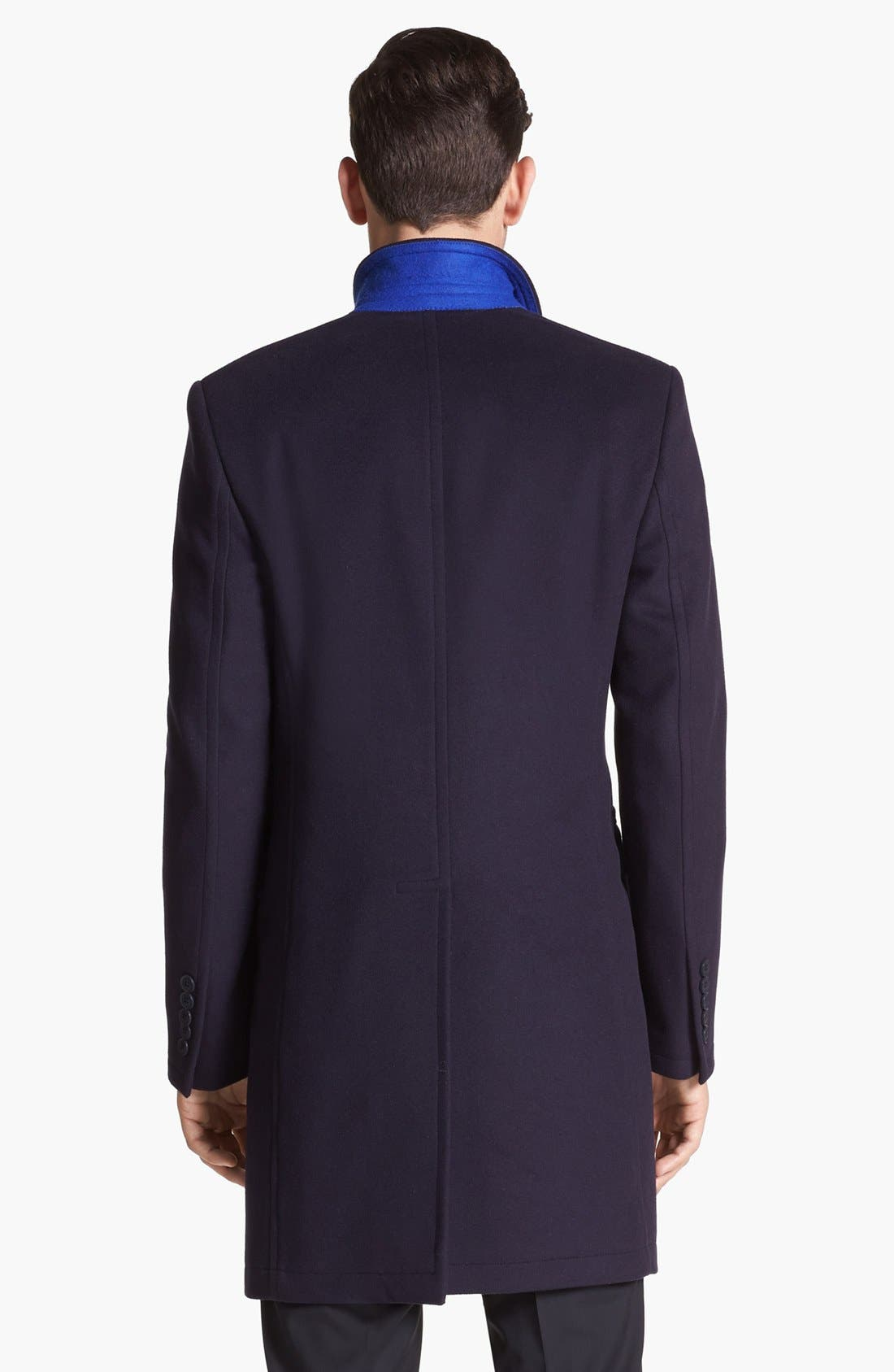 Alternate Image 2  - Paul Smith London Tailored Wool Topcoat