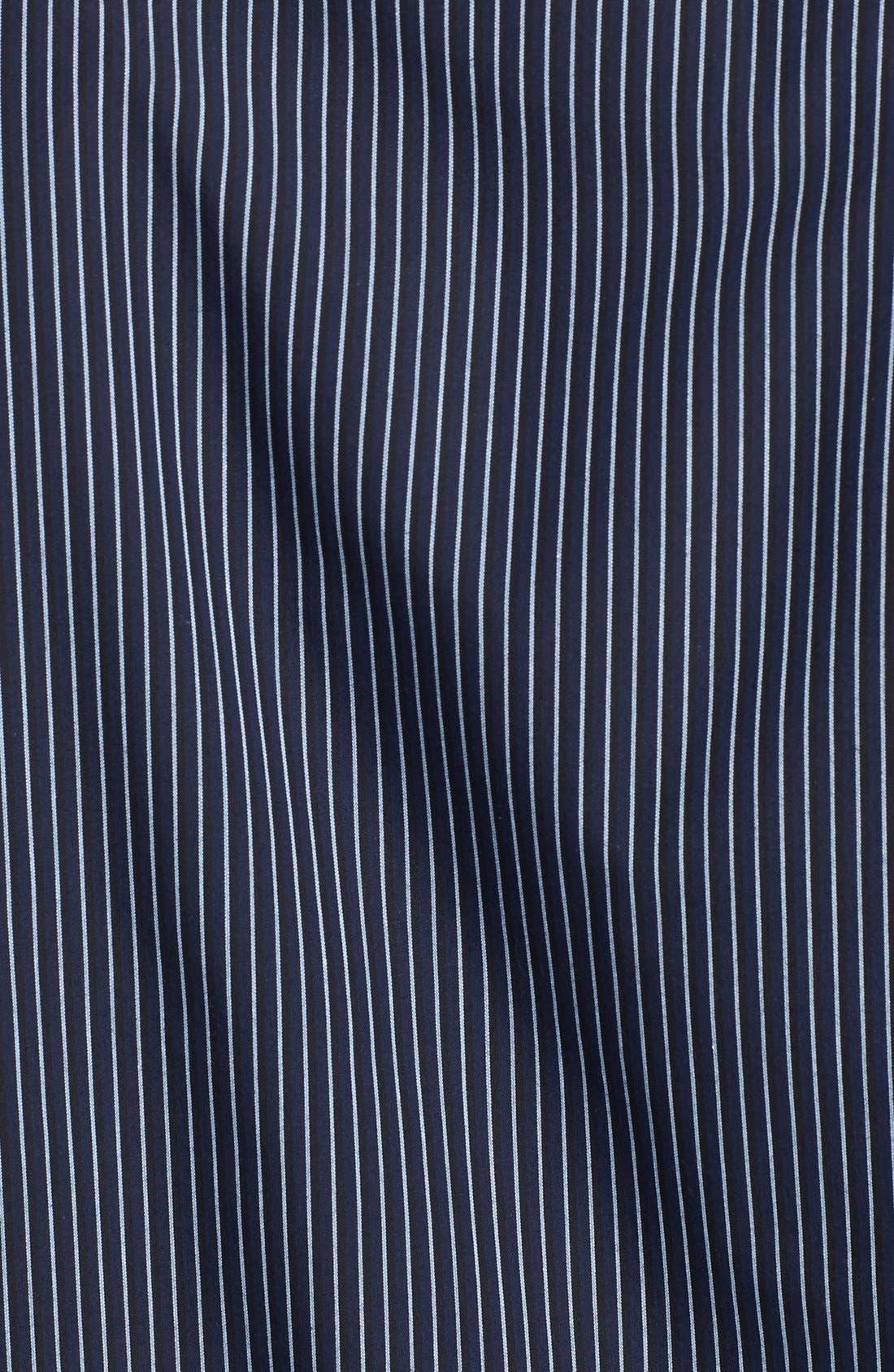 Alternate Image 3  - Armani Collezioni Stripe Cotton Sport Shirt