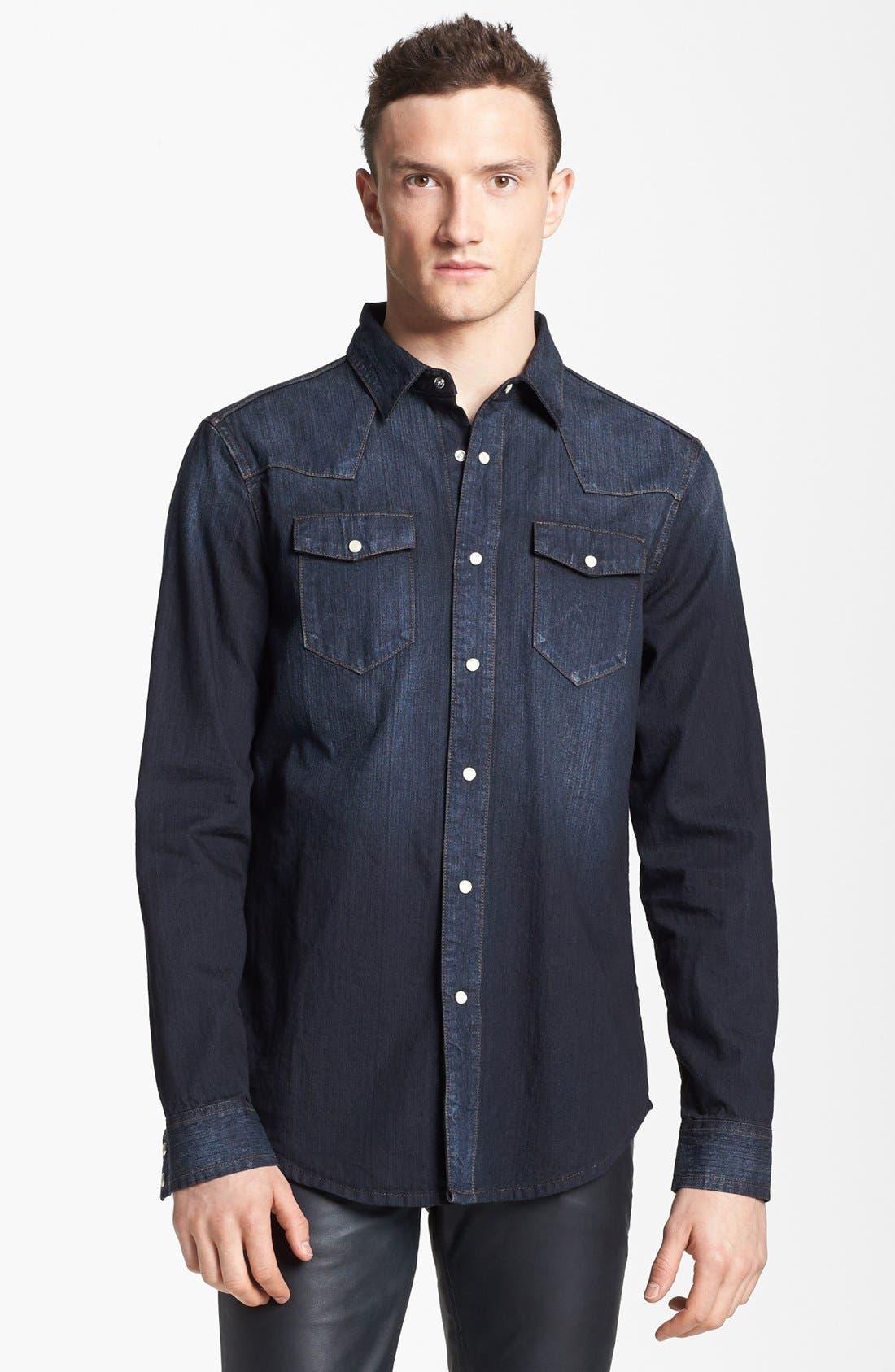 Alternate Image 1 Selected - BLK DNM Western Denim Shirt