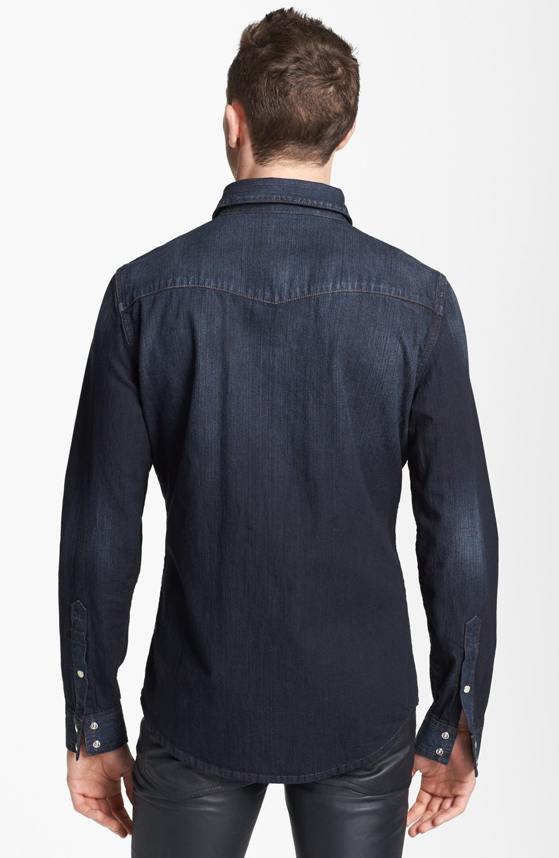 Alternate Image 2  - BLK DNM Western Denim Shirt