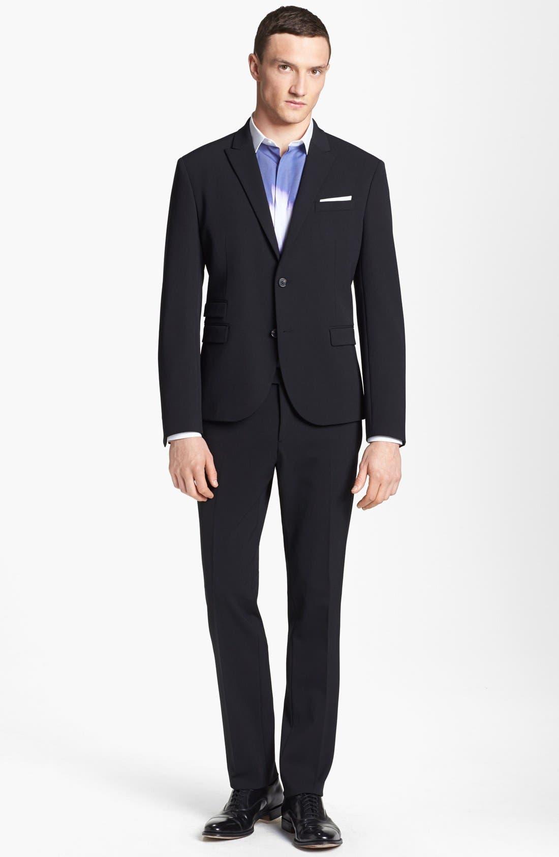 Alternate Image 1 Selected - Neil Barrett Stretch Gabardine Suit