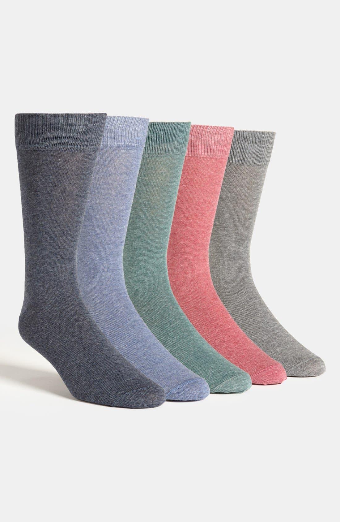 Main Image - Topman Socks (Assorted 5-Pack)