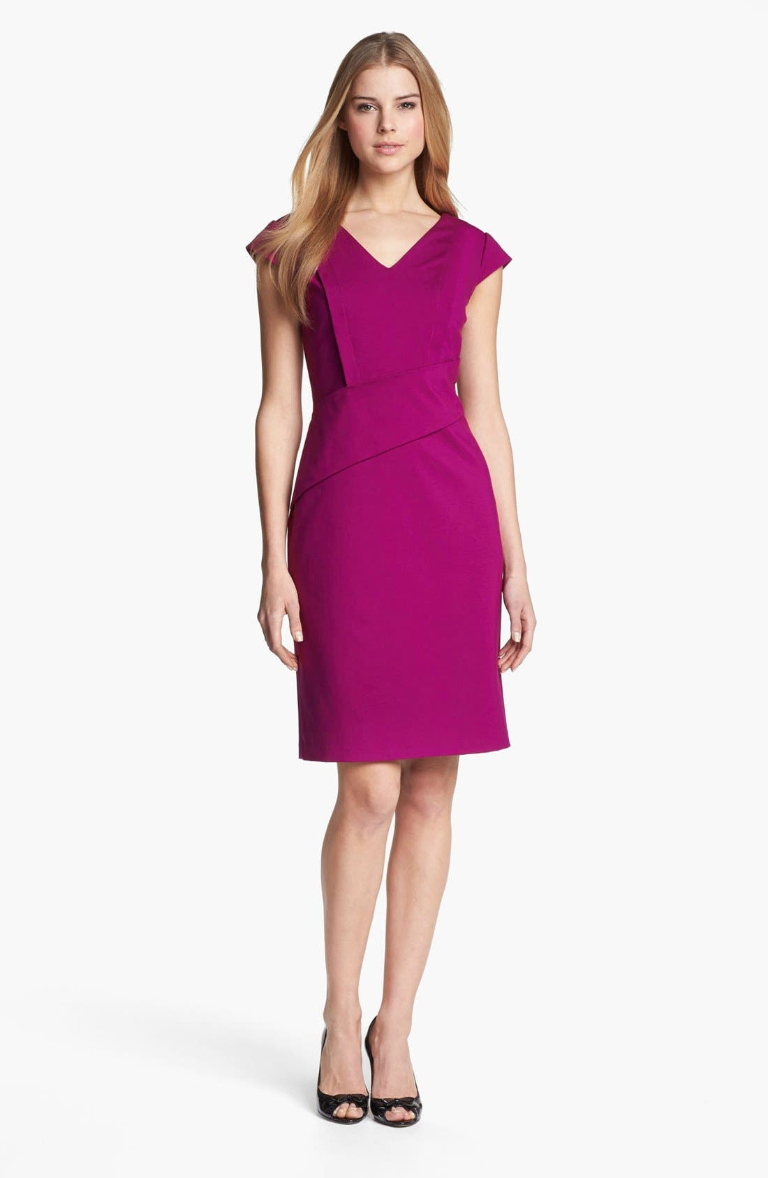 Main Image - Adrianna Papell Cap Sleeve Sheath Dress (Online Only)