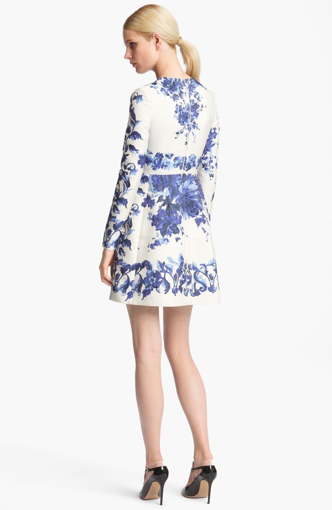 Alternate Image 2  - Valentino Long Sleeve Flared Skirt Dress