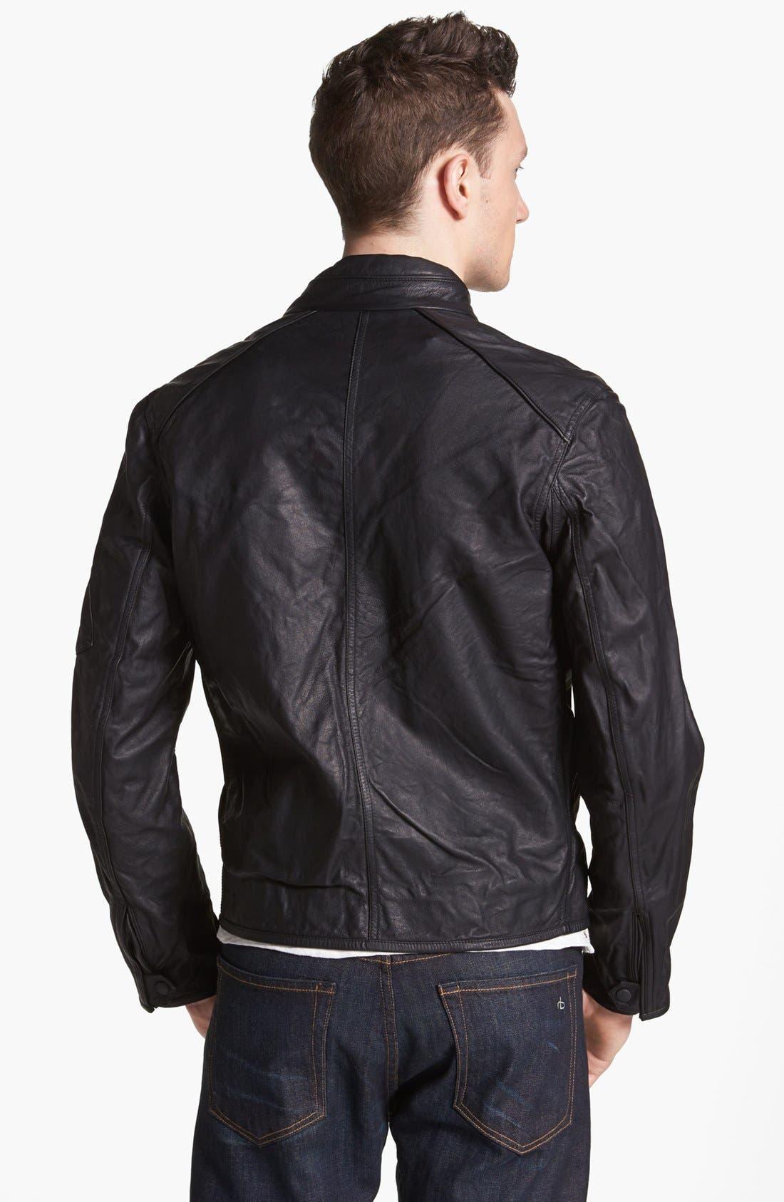 Alternate Image 2  - rag & bone 'Macclesfield' Kangaroo Leather Jacket