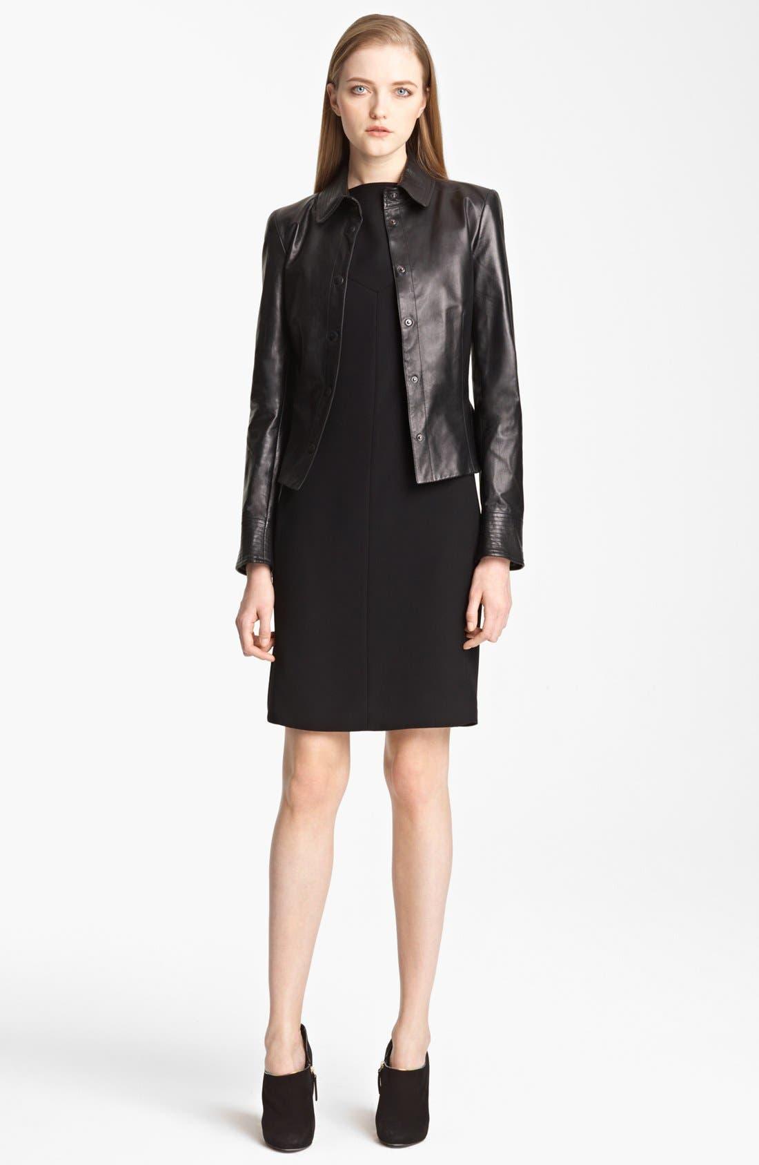 Alternate Image 2  - Armani Collezioni Nappa Leather Jacket