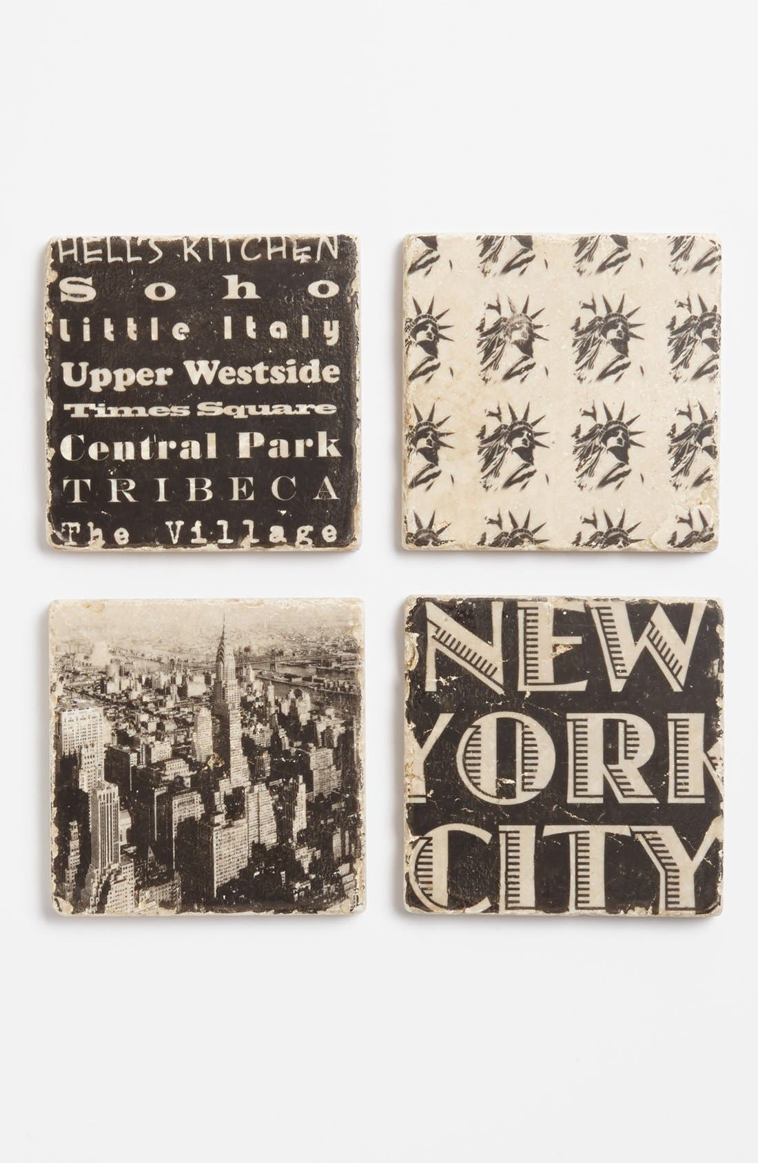 Alternate Image 1 Selected - 'New York City' Marble Coasters (Set of 4)