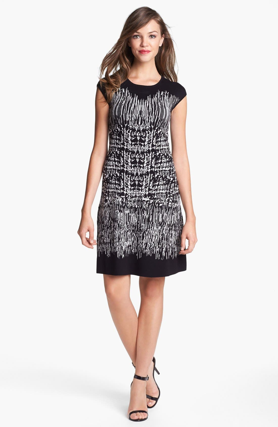 Alternate Image 1 Selected - BCBGMAXAZRIA Cap Sleeve Sweater Dress