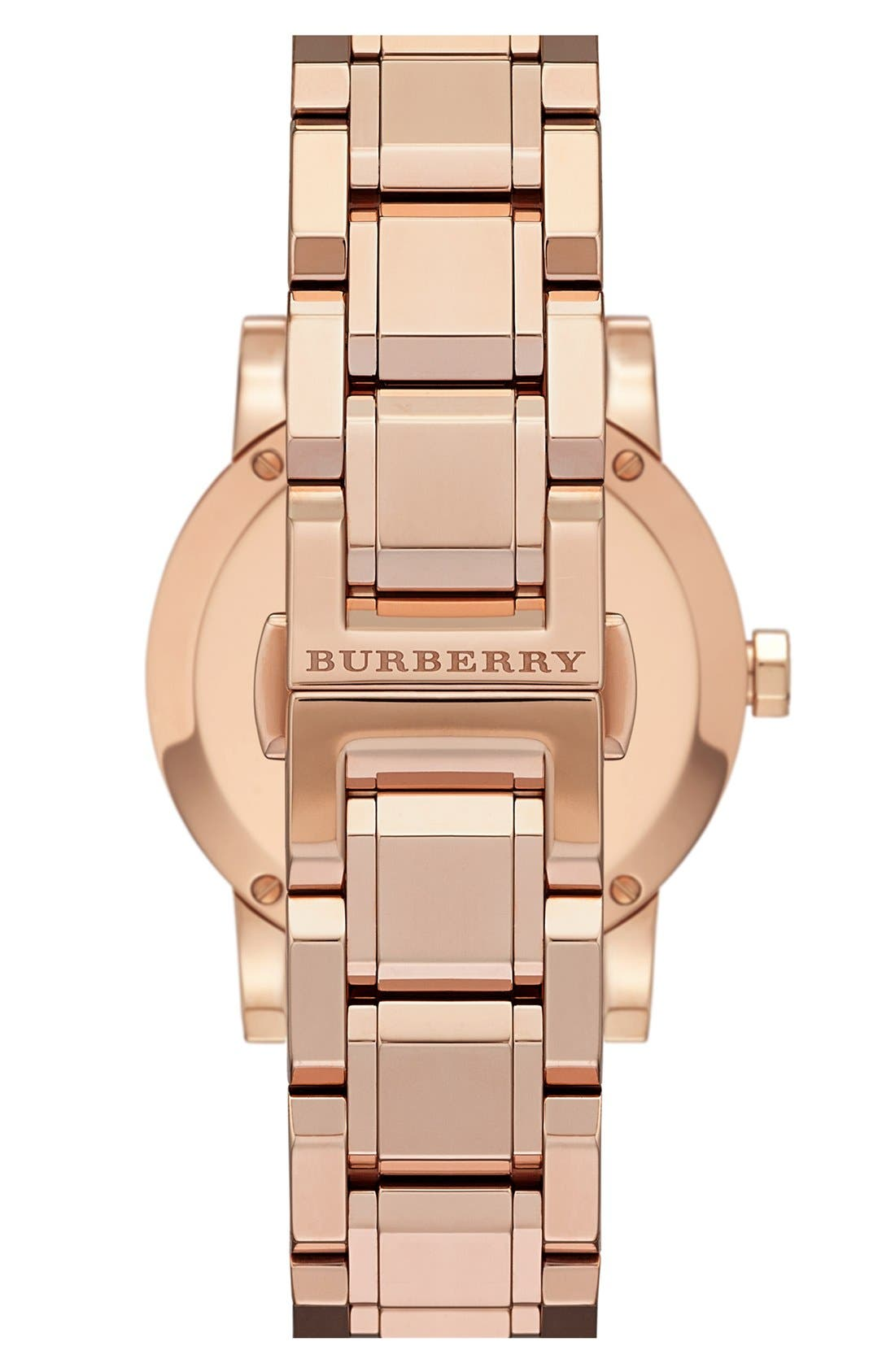 Alternate Image 2  - Burberry Diamond Dial Bracelet Watch, 34mm