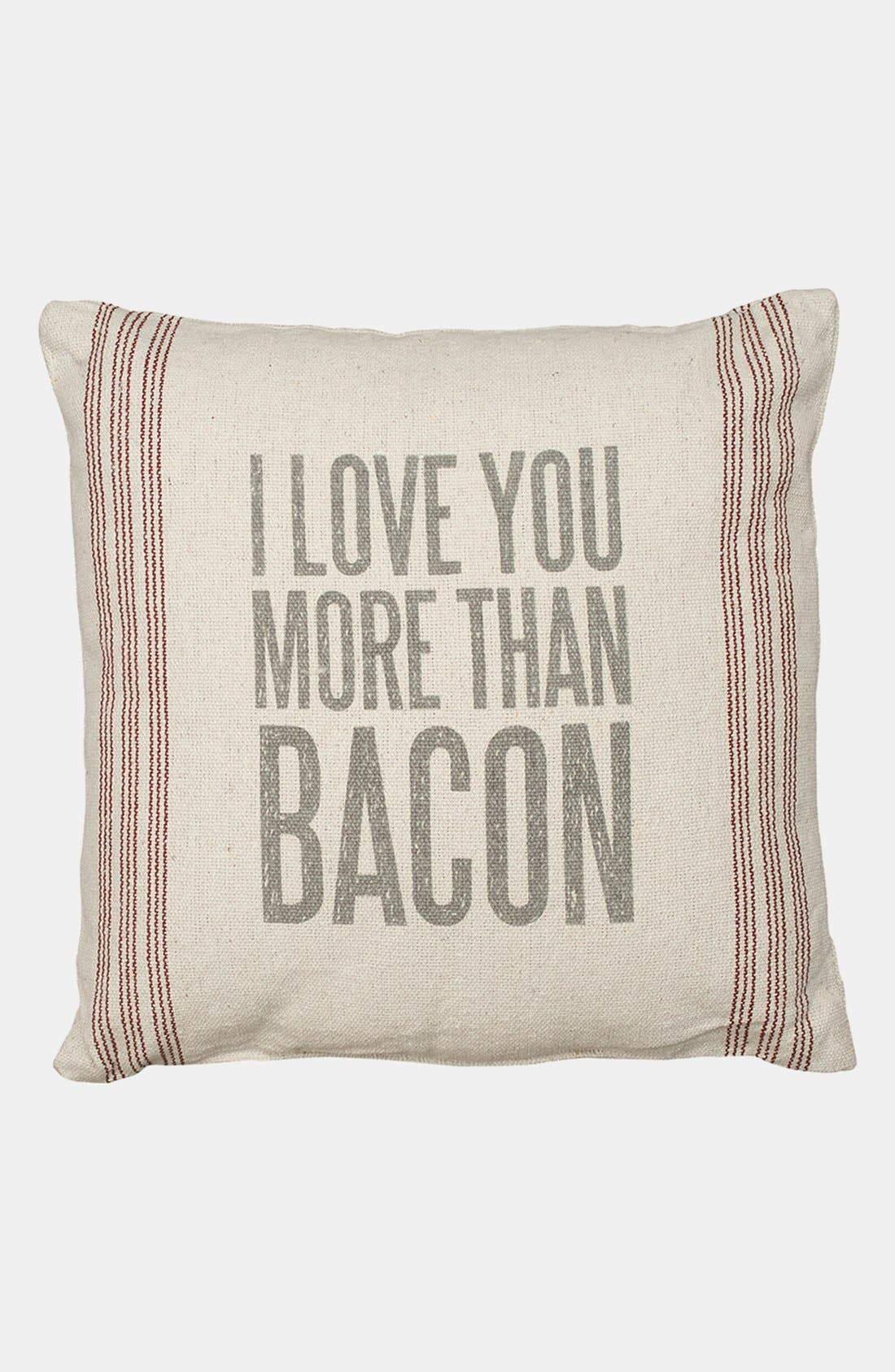 Alternate Image 1 Selected - Primitives by Kathy 'I Love You More Than Bacon' Pillow