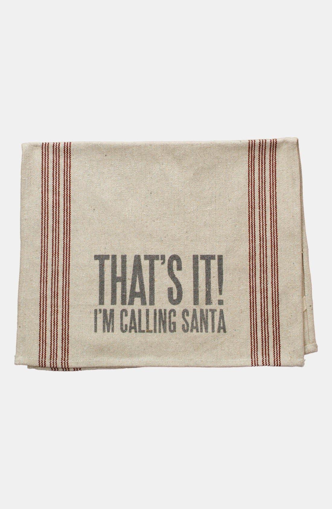Alternate Image 1 Selected - Primitives by Kathy 'Calling Santa' Tea Towel