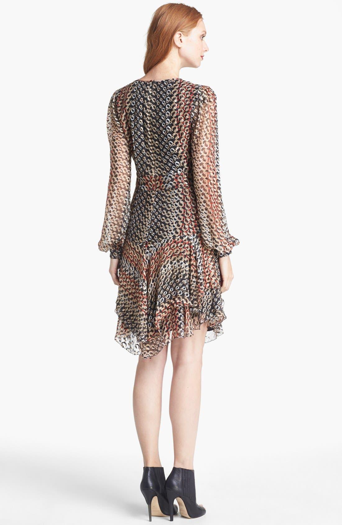 Alternate Image 2  - Diane von Furstenberg 'Kali' Silk Blend A-Line Dress