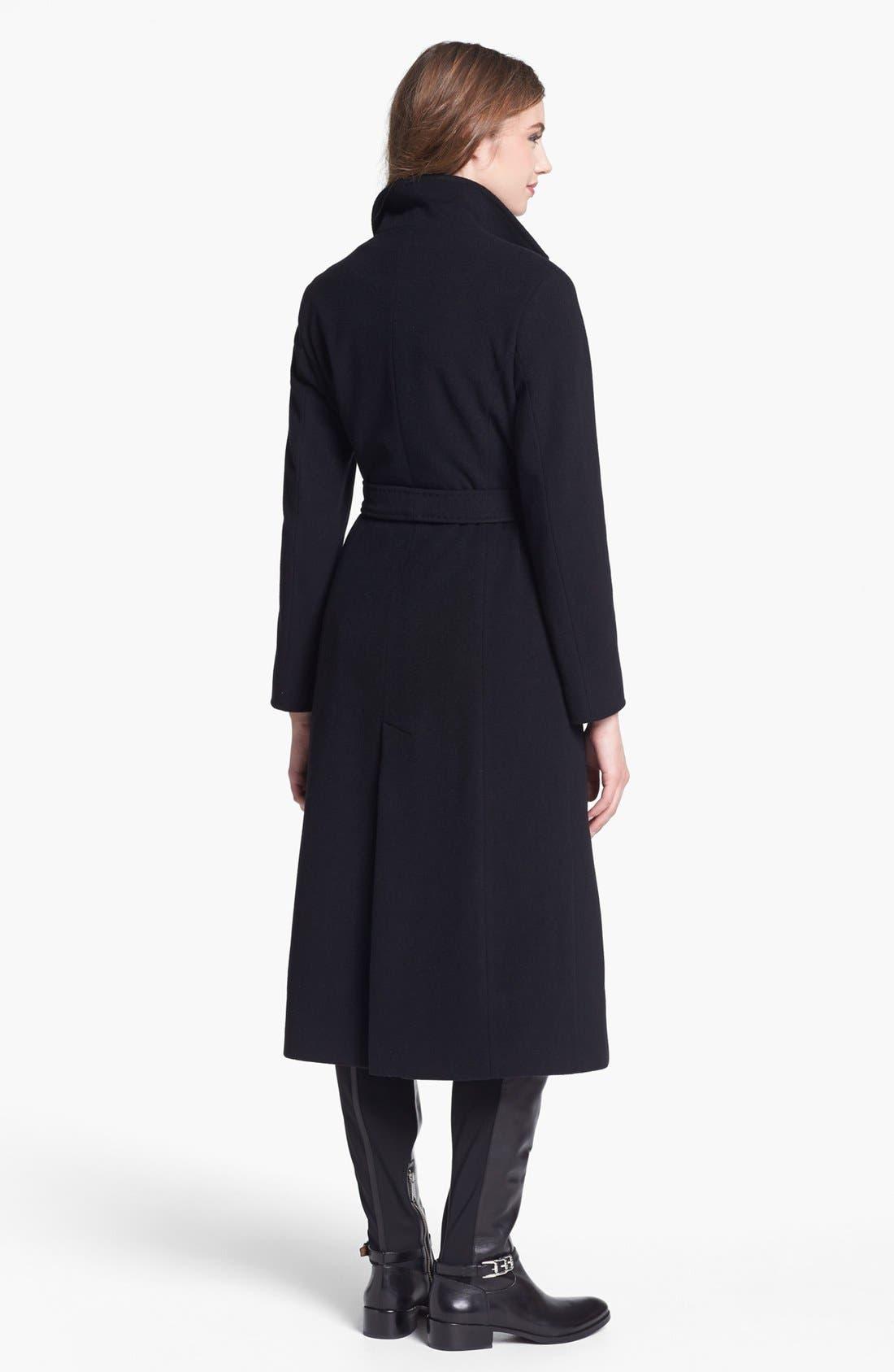 Alternate Image 2  - Cinzia Rocca Due Belted Long Wool Blend Coat (Petite)