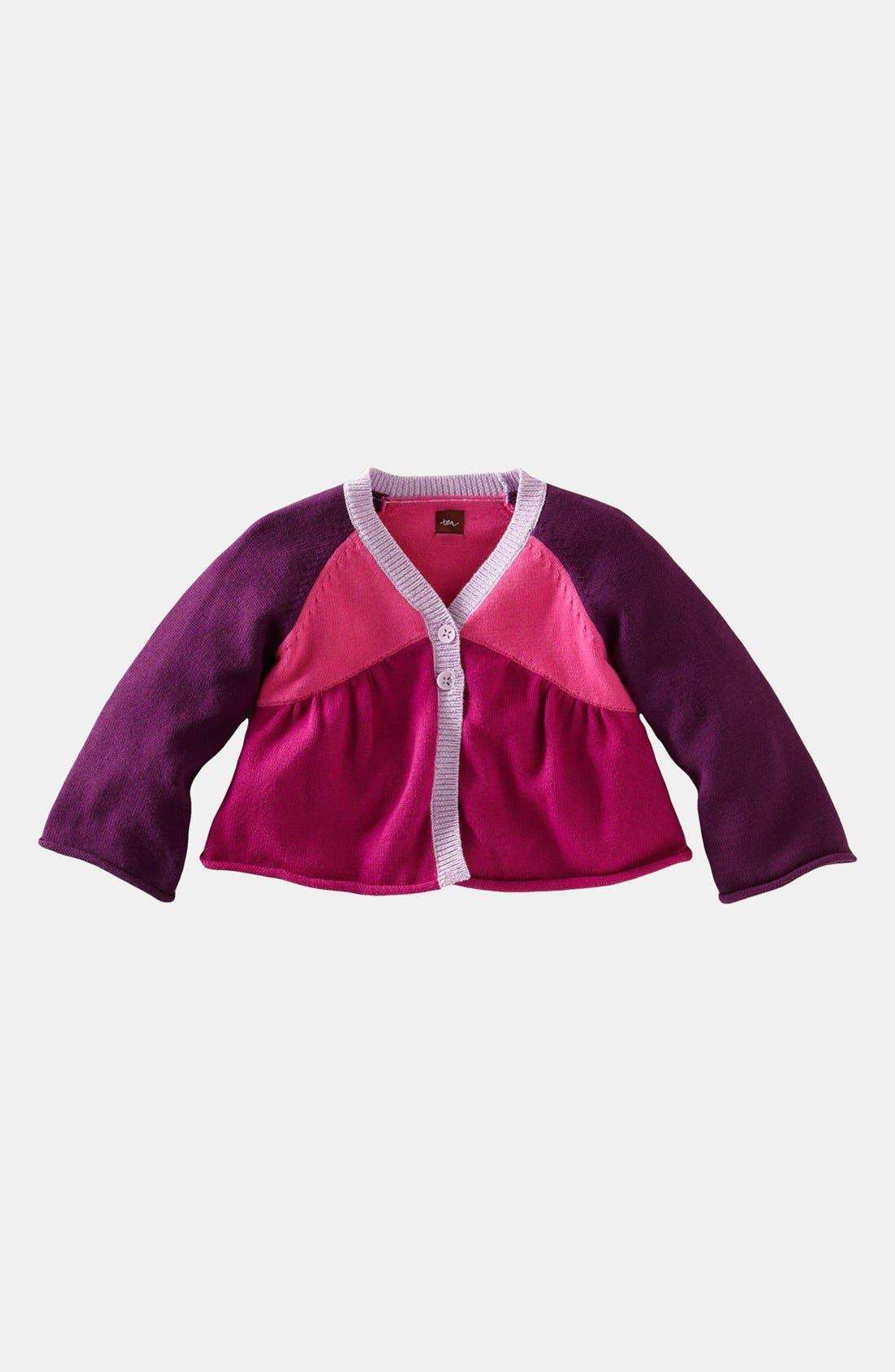 Main Image - Tea Collection Colorblock Cardigan (Toddler Girls)