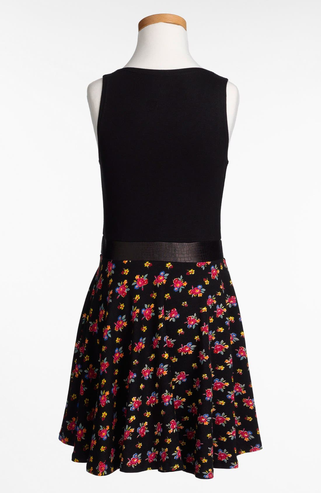 Alternate Image 2  - Flowers by Zoe 'Grommets & Flowers' Dress (Big Girls)