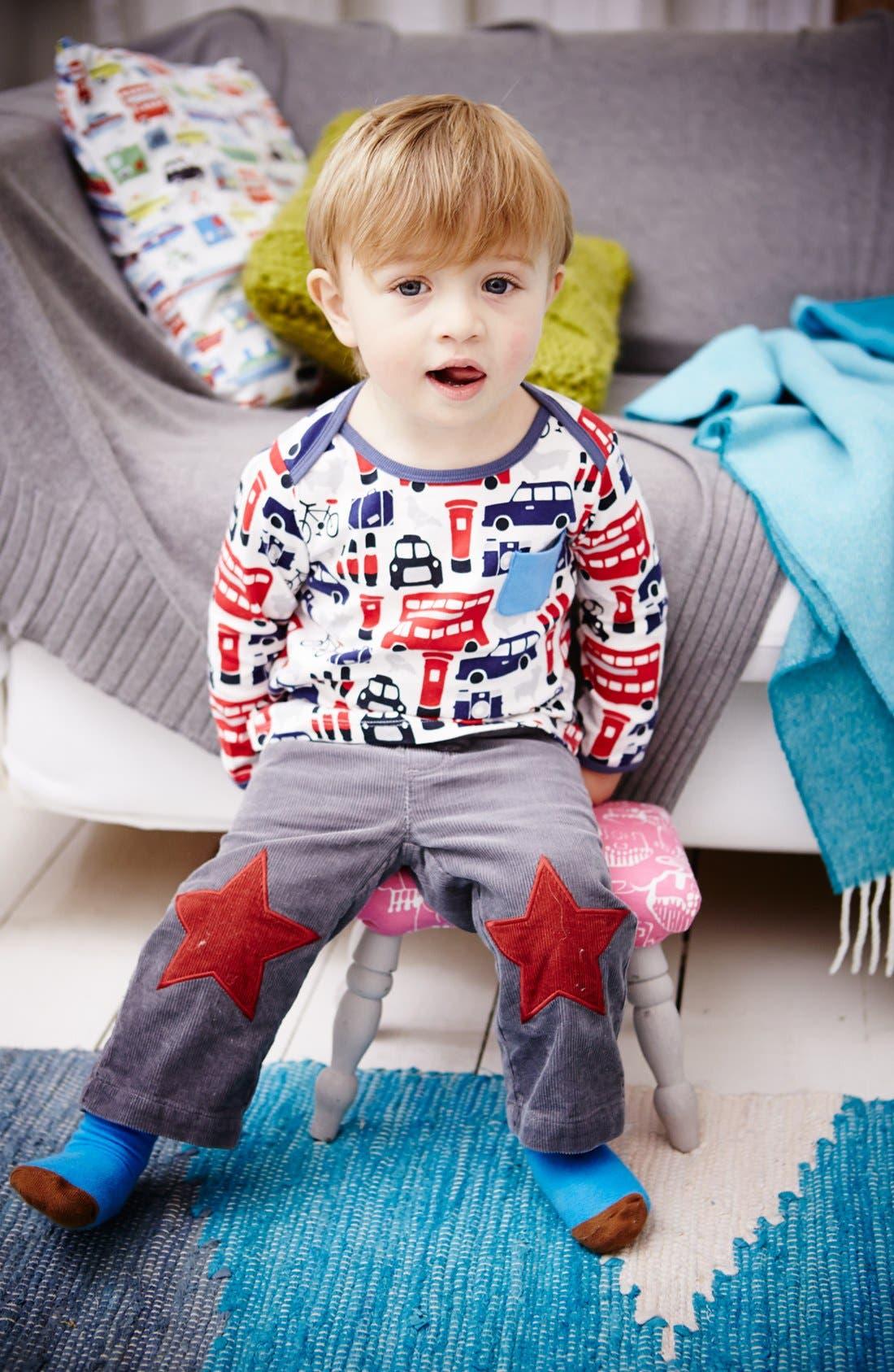 Alternate Image 3  - Mini Boden 'Star Patch' Pants (Baby Boys)
