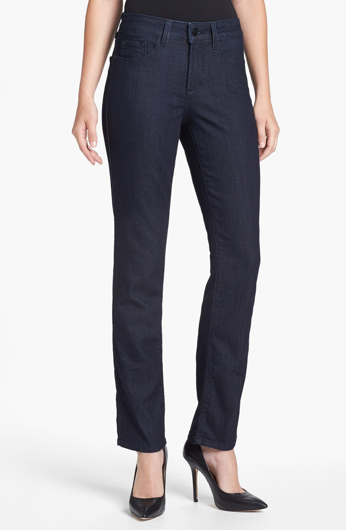 Alternate Image 1 Selected - NYDJ 'Sheri' Stretch Skinny Jeans (Dark Enzyme)
